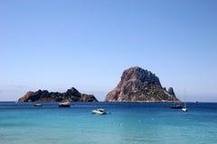 Rocha mágica Es Vedra, Ibiza Fotografia de Stock Royalty Free