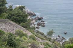 Rocha (mar de adriático) Imagem de Stock