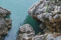 Rocha (mar de adriático) Foto de Stock Royalty Free