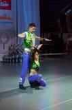 Rocha-n-rolo acrobático Fotos de Stock Royalty Free