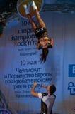 Rocha-n-rolo acrobático Imagem de Stock Royalty Free
