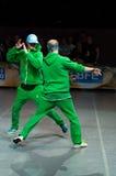 Rocha-n-rolo acrobático Foto de Stock Royalty Free