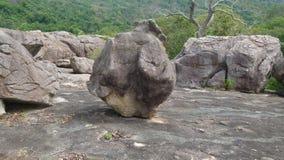Rocha na rocha Imagens de Stock