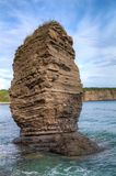 Rocha na ilha de Russkiy Foto de Stock Royalty Free