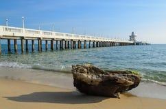 A rocha na praia Fotografia de Stock Royalty Free