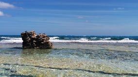 Rocha na praia Foto de Stock Royalty Free