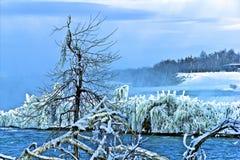 Rocha Niagara Falls da tabela Fotografia de Stock Royalty Free