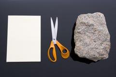 Rocha, papel, tesouras Imagem de Stock