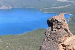 Rocha & Paulina Lake Foto de Stock