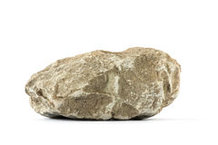 Rocha (pedra) isolada no branco Foto de Stock