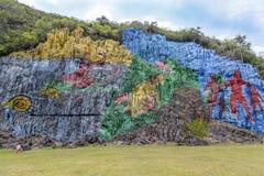 Rocha-pintura em Vinales, Cuba Imagem de Stock