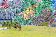 Rocha-pintura em Vinales, Cuba Imagens de Stock