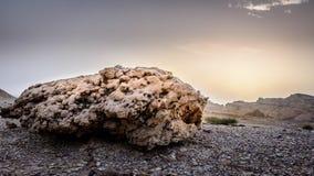 Rocha & por do sol Imagens de Stock