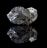 Rocha preta de carvão Imagens de Stock