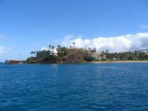 Rocha preta - Maui, Havaí Fotografia de Stock