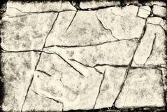 Rocha rachada do fundo ou da textura Fotos de Stock
