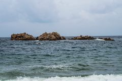 rocha real grande Coreia do Sul gyeongju foto de stock royalty free
