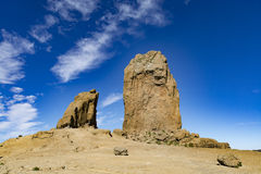 Rocha ritual Roque Nublo, Gran Canaria, Espanha Foto de Stock Royalty Free