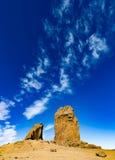 Rocha ritual Roque Nublo, Gran Canaria, Espanha Imagens de Stock