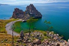 Rocha Samanka na ilha Olkhon Fotografia de Stock Royalty Free