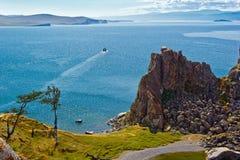 Rocha Samanka na ilha Olkhon imagem de stock