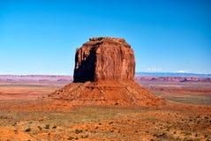 Rocha solitária no vale do monumento Fotos de Stock Royalty Free