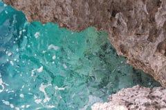 Rocha subaquática no mar de adriático Fotografia de Stock