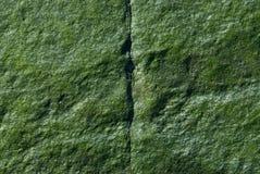 Rocha verde - rachadura vertical Imagens de Stock Royalty Free