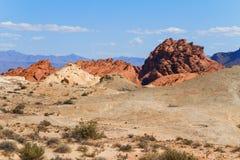 Rocha vermelha Formarion no deserto Fotografia de Stock Royalty Free