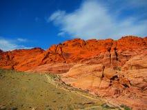 Rocha vermelha Montain, garganta vermelha Nevada da rocha imagens de stock royalty free