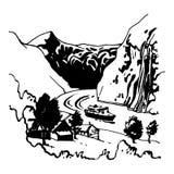 Rochas 2 ilustração stock