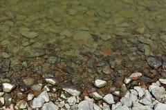 Rochas afiadas do rio Fotos de Stock