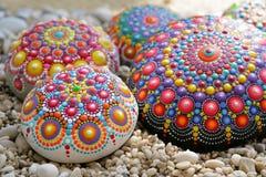 Rochas bonitas da mandala fotografia de stock