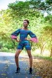 Rochas bonitas da senhora de África em cópias africanas Imagem de Stock Royalty Free