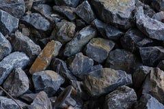Rochas da construção de Grey Stones Pile Texture Background Fotos de Stock