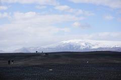 Rochas da lua de Islândia fotografia de stock royalty free