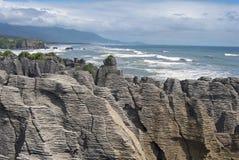 Rochas da panqueca em Nova Zelândia fotografia de stock royalty free