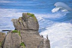 Rochas da panqueca, Punakaiki, Nova Zelândia Imagem de Stock Royalty Free