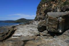 Rochas da praia de Flynn Foto de Stock Royalty Free