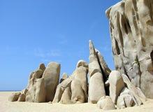 Rochas da praia dos amantes Fotos de Stock Royalty Free