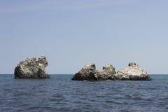 Rochas das monges no Mar Negro Imagem de Stock