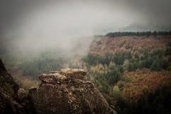 Rochas de Belogradchik na névoa Foto de Stock