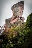 Rochas de Belogradchik na névoa Fotografia de Stock