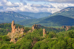 Rochas de Belogradchik no amanhecer Fotografia de Stock Royalty Free