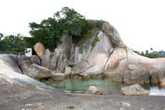 Rochas de Hin Ta e de Hin Yai em Koh Samui imagem de stock