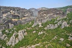 Rochas de Meteora Imagens de Stock