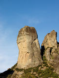 Rochas de Meteora - Greece Foto de Stock Royalty Free