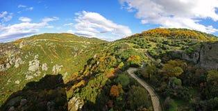 Rochas de Meteora, região de Trikala, Grécia Imagens de Stock Royalty Free