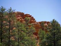 Rochas de Pepperpot no parque nacional da garganta vermelha, Utá, EUA Fotos de Stock