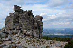 Rochas de Sloneczniki em montanhas de Karkonosze Imagem de Stock
